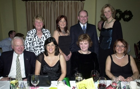 PICTURED at the Ballinrobe GAA Club's Annual Dinner Dance in Lynch's Hotel Clonbur. Back row l-r: Kay Treacy, Michelle Howie, T.J.Quinn, Clare O'Neill. Front: Tom Treacy Snr, Elaine Treacy, Edel O'Neill, Assumpta Quinn.