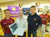 James Quinn (Ballinrobe minor), Kevin Loftus (website designer and CEO, easysale.ie) and Donal Vaughan (Ballinrobe senior captain) are pictured at the launch of the new Ballinrobe GAA club website at Vaughan's Shoes, club sponsors, last week. The website can be accessed at www.ballinrobegaaclub.com Pic: Michael Donnelly