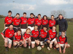 This is the Rennes GAA team. That's our own, our very own, Niall Murphy, third from right, back row
