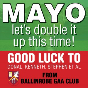 Good luck to Mayo in the two finals