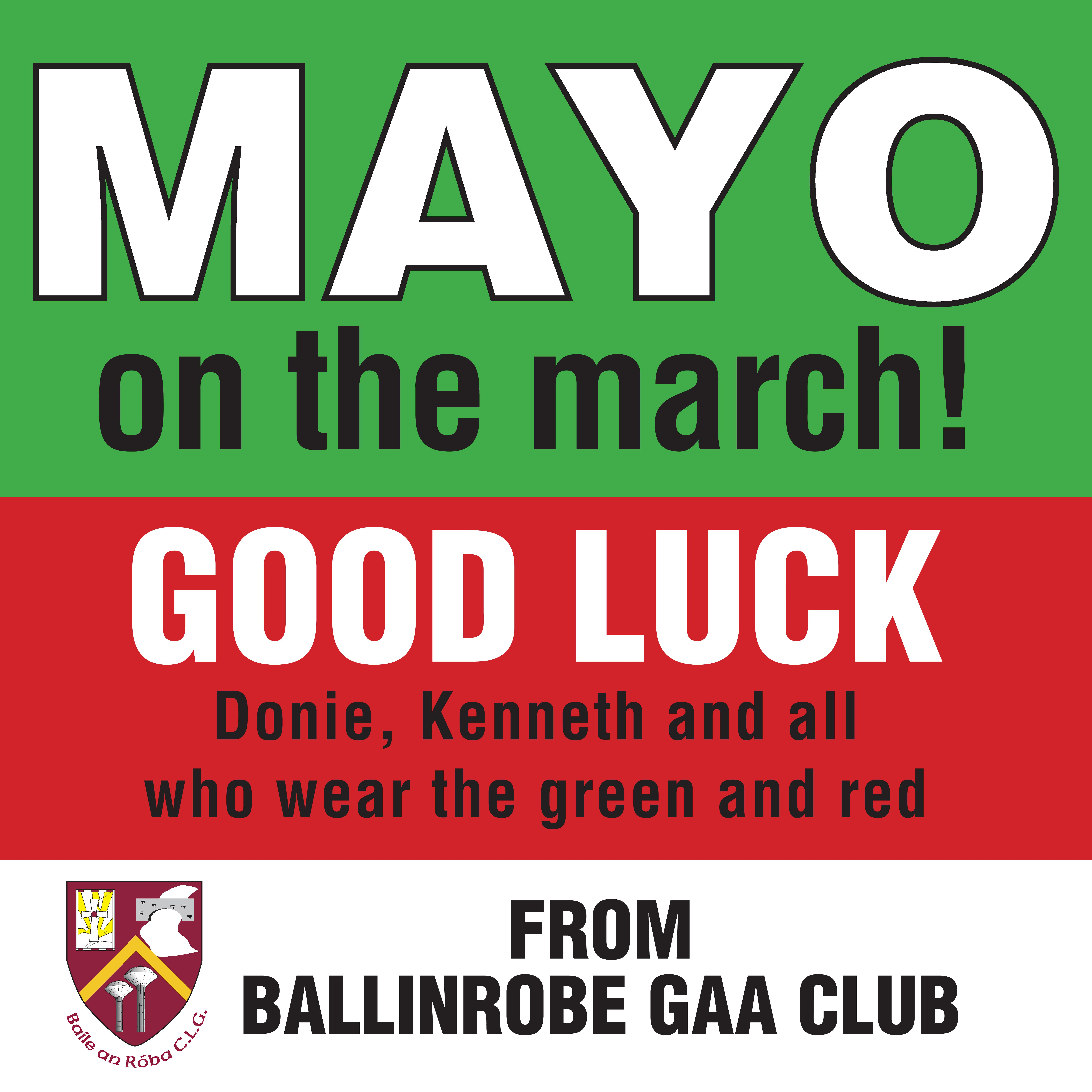 Supporting our men in the Mayo colours