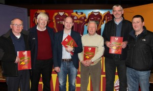 Pictured at the launch of the Ballinrobe GAA Club Coaching Plan were, left to right: Martin Flannery, Sean Murphy (committee), Fergal Costello who launched the Plan, Michael Coyne (committee), Vincent Cummins (sponsor) and Declan Corcoran (committee).           Pic: Trish Forde.