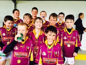 Ballinrobe U10s, who reached the final of the Padraic Mulroe Cup in Tourmakeady, 2015. They were defeated by Kilmeena in the decider.