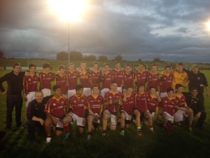 The successful U16 team - after tonight's South Mayo U16 B final victory over Hollymount-Carramore.